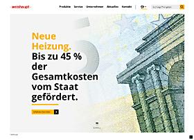 Screenshot von www.weishaupt.de