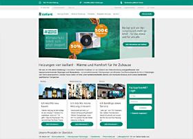 Screenshot von www.Vaillant.de