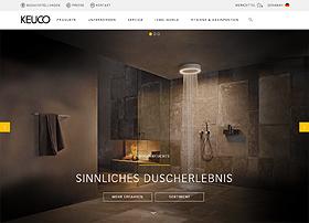 Screenshot von www.Keuco.de