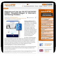 Grafik: MUSCHKOWSKI GMBH Pressemitteilung 2021 bei OPENPR - 'MUSCHKOWSKI GMBH, Bargfeld-Stegen in Stormarn, Schleswig-Holstein launcht responsive Website'