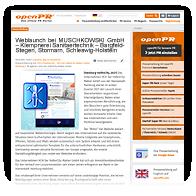 Pressescreenshot OPENPR Muschkowski GmbH