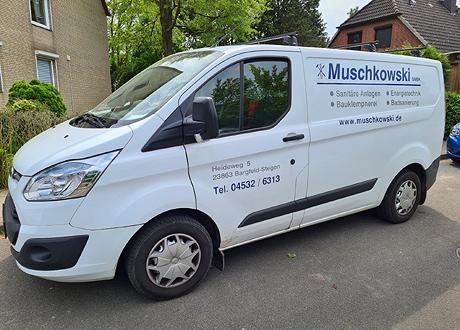 Die Mitarbeiter von von MUSCHKOWSKI GMBH sind mit gut ausgestatteten Servicewagen in Stormarn / Schleswig-Holstein und im Großraum Hamburg unterwegs